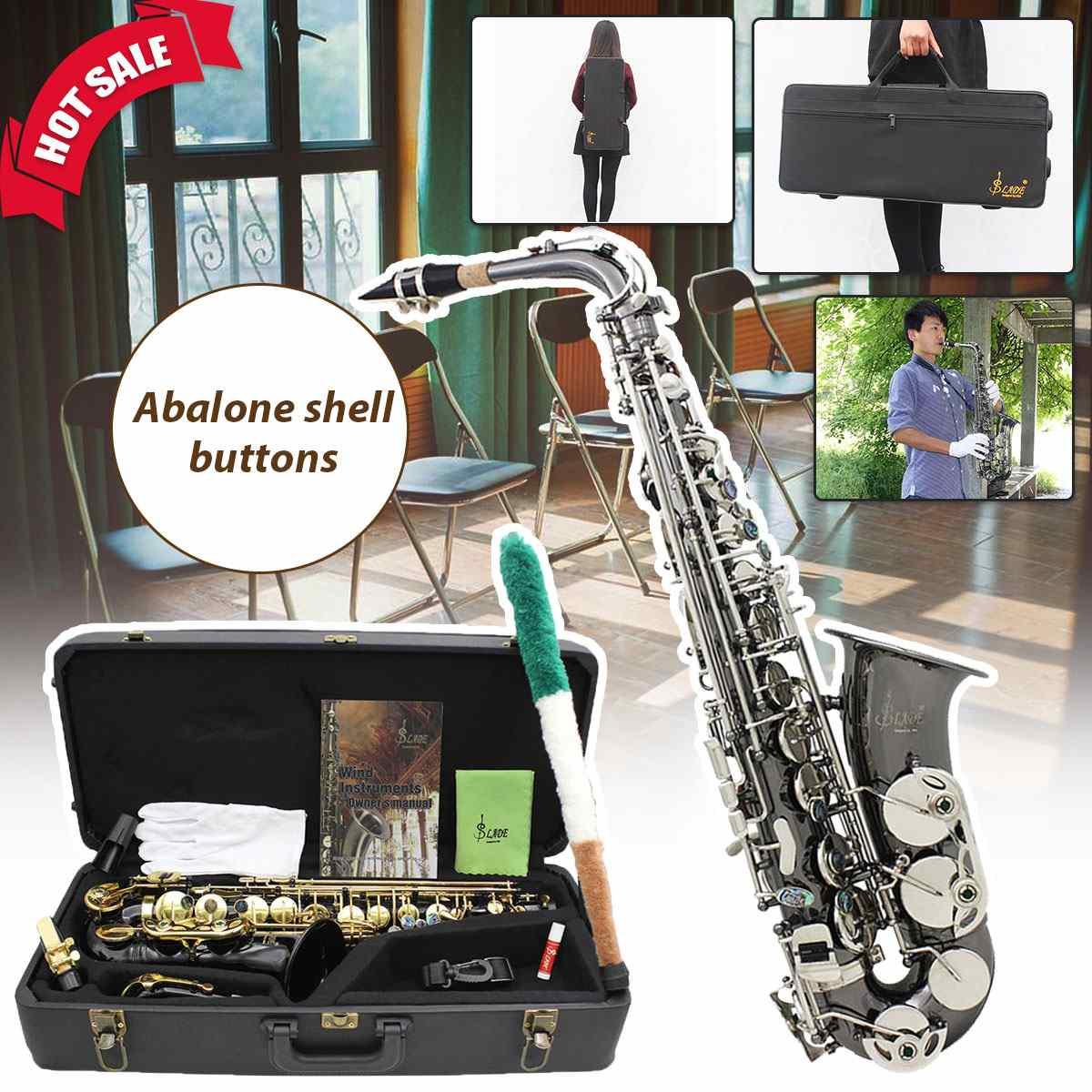Black Nickel Body Silver Keys Alto Saxophone Sax Musical Instruments swan 37 keys melodica black color teaching music fundamentals mouth organ melodica musical instruments accordion accessories