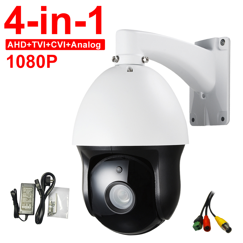 CCTV IP66 Outdoor Security FULL HD 1080P High Speed Dome PTZ Camera AHD CVI TVI CVBS 4-IN-1 Surveillance 2.0MP 20X ZOOM Auto Foc top high speed full teeth piston