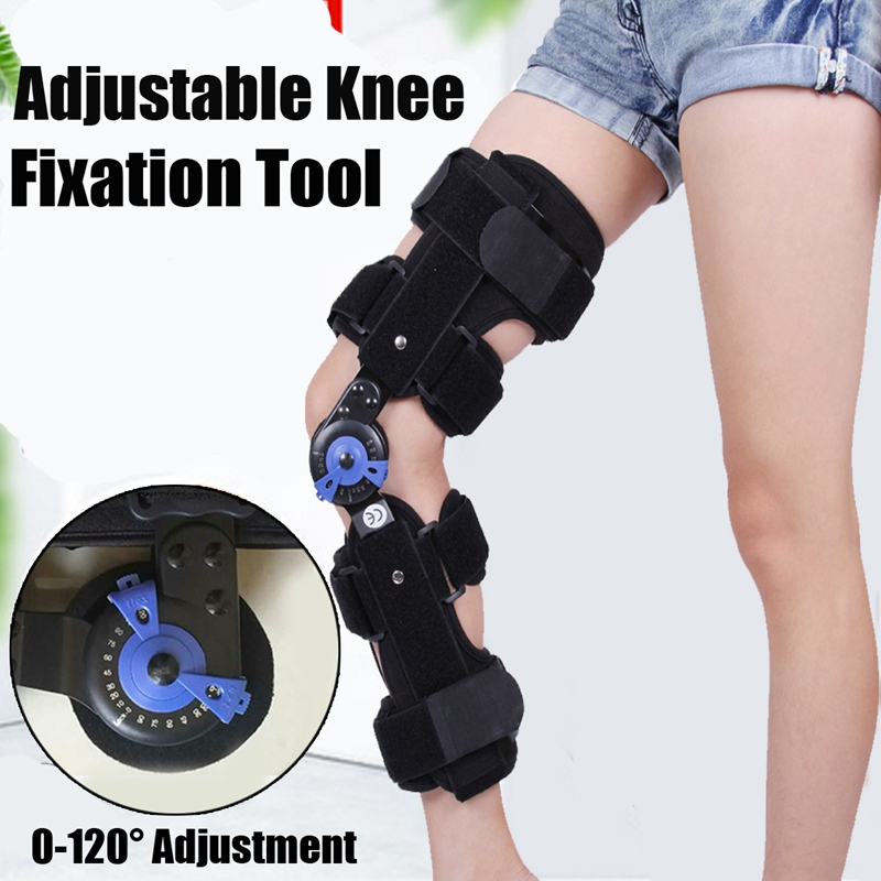 Kifit 0-120 Degree Adjustable Hinged Knee Leg Brace Support Protect Knee Fixation Tool Personal Health Care M/L Knee Brace kifit rom medical grade 0 120 degrees adjustable hinged knee leg brace support