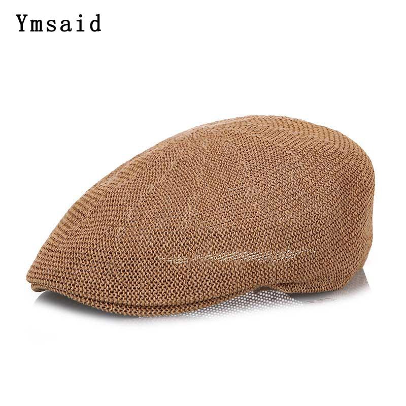 New Fashion Summer Men's Beret Newsboy Cap Casquette Gorras Casual Linen Sun Hats Visor Breathable Straw Hat Bone For Women