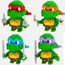 2016 New 1pcs Teenage Mutant Ninja Turtles TMNT Action MiniFigures Building Blocks toy super hero figure Bricks kids Toys Bricks