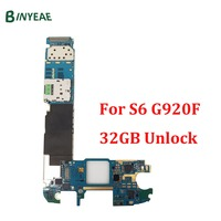 BINYEAE Replacement Mainboard For Samsung Galaxy S6 G920F Motherboard 100 Test Good Working Unlock 32GB