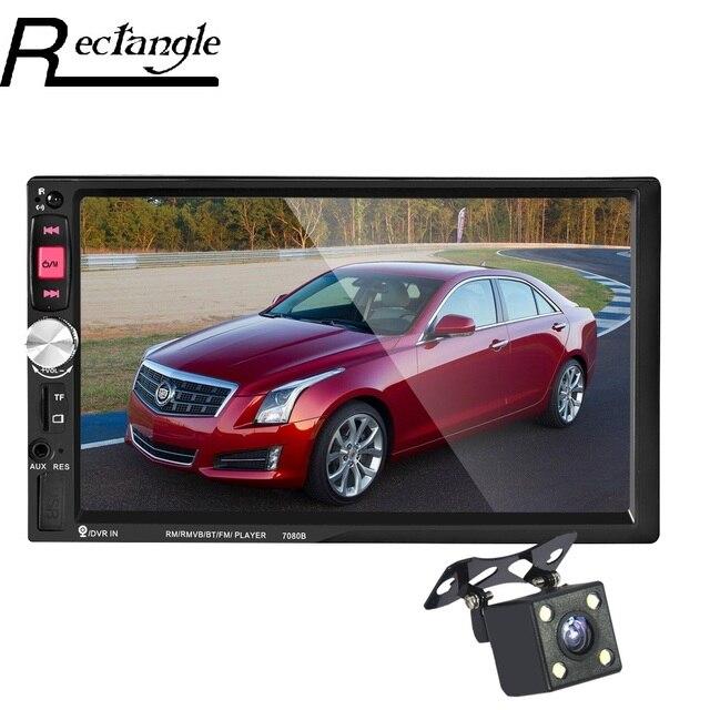7080B 2 Din Автомобильный Радио Dvd-плеер 7 Дюймов Сенсорный Экран В тире Авто MP4 MP5 Видео Плеер Пульт Дистанционного Управления С Заднего вида камера