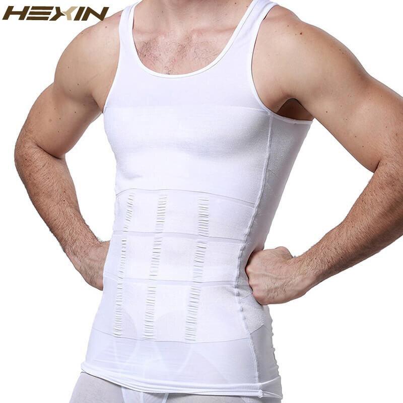 HEXIN de hombres adelgazar Shapewear cuerpo corsé chaleco camiseta de compresión de Abdomen vientre Control Slim Cincher de la cintura ropa interior