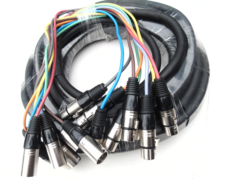 KL 10 Ft 8 Channel XLR Male to XLR Female Snake Cable leadshine ac servo drives acs606 work 48 60 vdc out 1 0a to 18a fit for blm57180 servo motor 180w