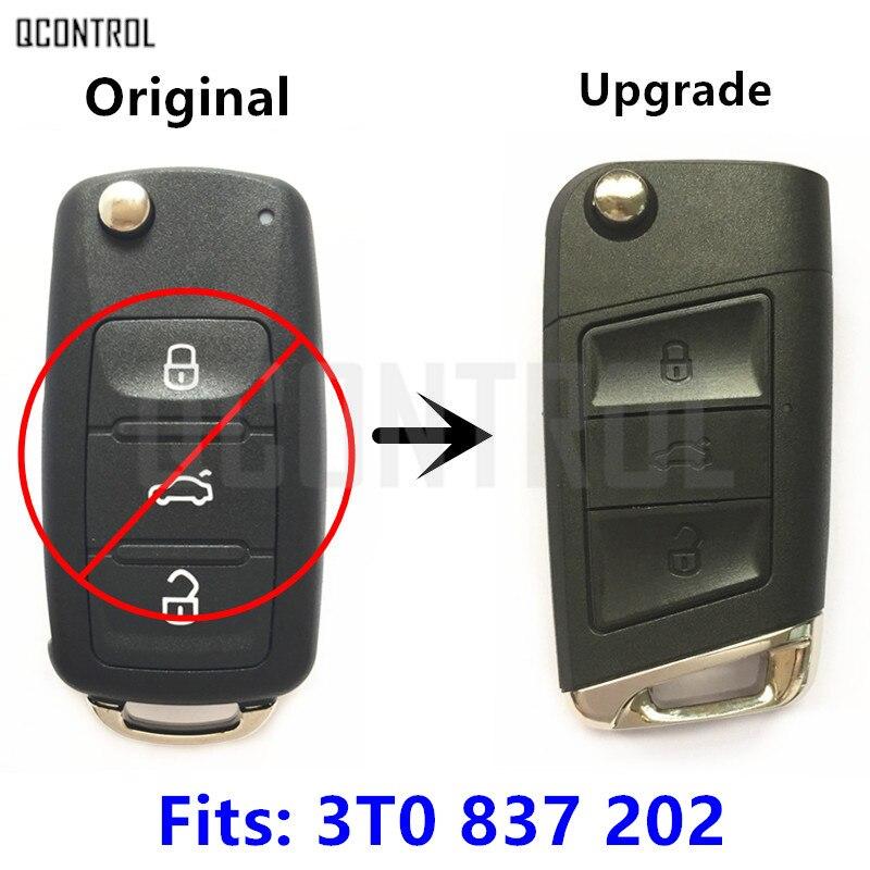 QCONTROL Verbesserte Auto Funkschlüssel 3T0837202 für SKODA Citigo/Fabia/Octavia/Schnelle/Roomster/Superb/Yeti 434 MHz