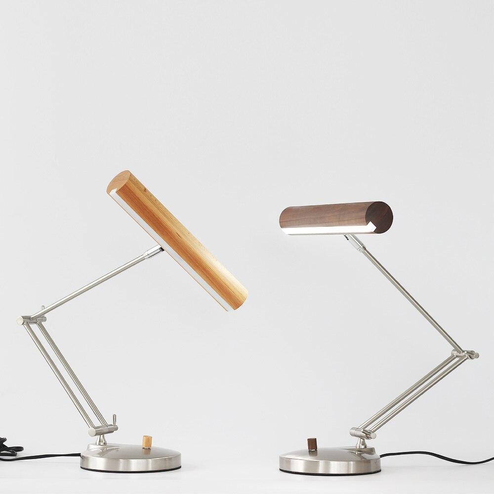 Простой деревянной LED глаз настольная лампа обучения современные деревянные или оригинальный Спальня Гостиная Бар Украшенный Стол Света ...