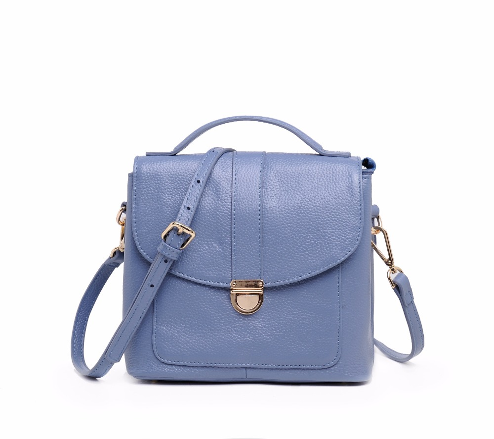 2018 Genuine Leather Women Messenger Bags Crossbody Bags High Quality Fashion Female Shoulder Bags Women Handbags Tote Bag HB30