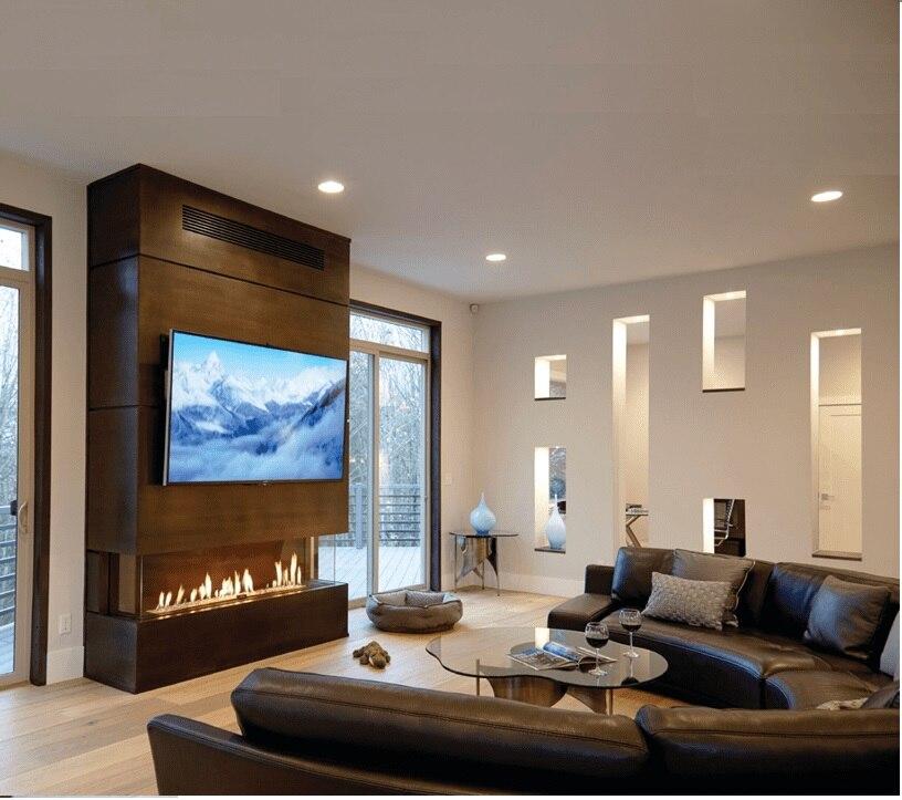 Inno Living Fire 36 Inch Indoor Fireplace Electric  Bio Fuel Burner Insert