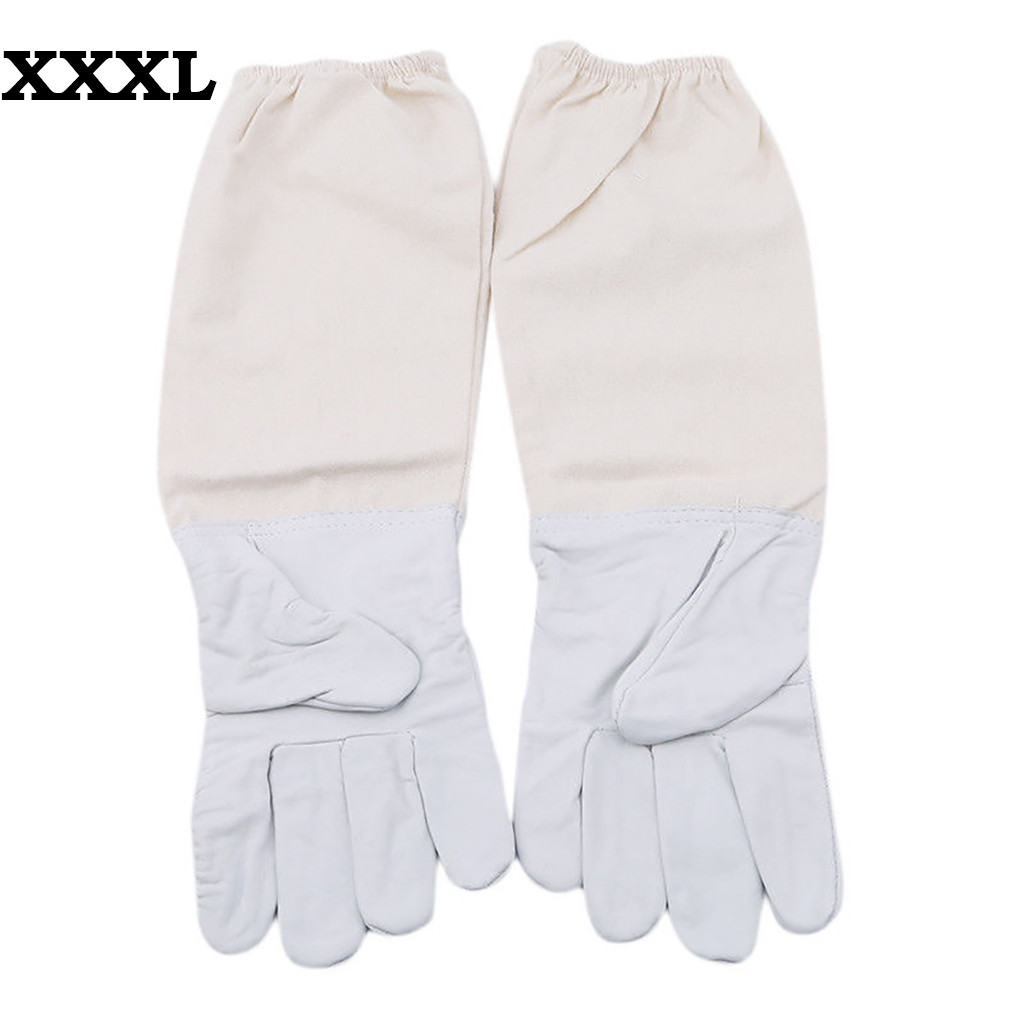 Image 3 - 2019 can't miss recommended Beekeeping Gloves Goatskin Bee Keeping with Vented Beekeeper Long Sleeves beekeeping supplies-in Protective Clothing Accessories from Home & Garden