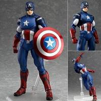2017 New Hot Sale Anime Figure Toy Figma226 The Avengers Captain America 16CM Gift For Children