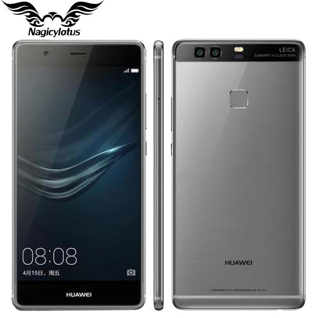 Original huawei p9 plus vie-al10 4g lte 5.5 pulgadas teléfono móvil kirin 955 Octa Core 4 GB RAM 64 GB ROM Android 6.0 Dual SIM 12.0MP
