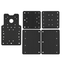 Professional Cnc Engraving Machine Workbee Plate Set Building Plate Xyz Shaft Mounting Plate Black metal panel For Openbuilds