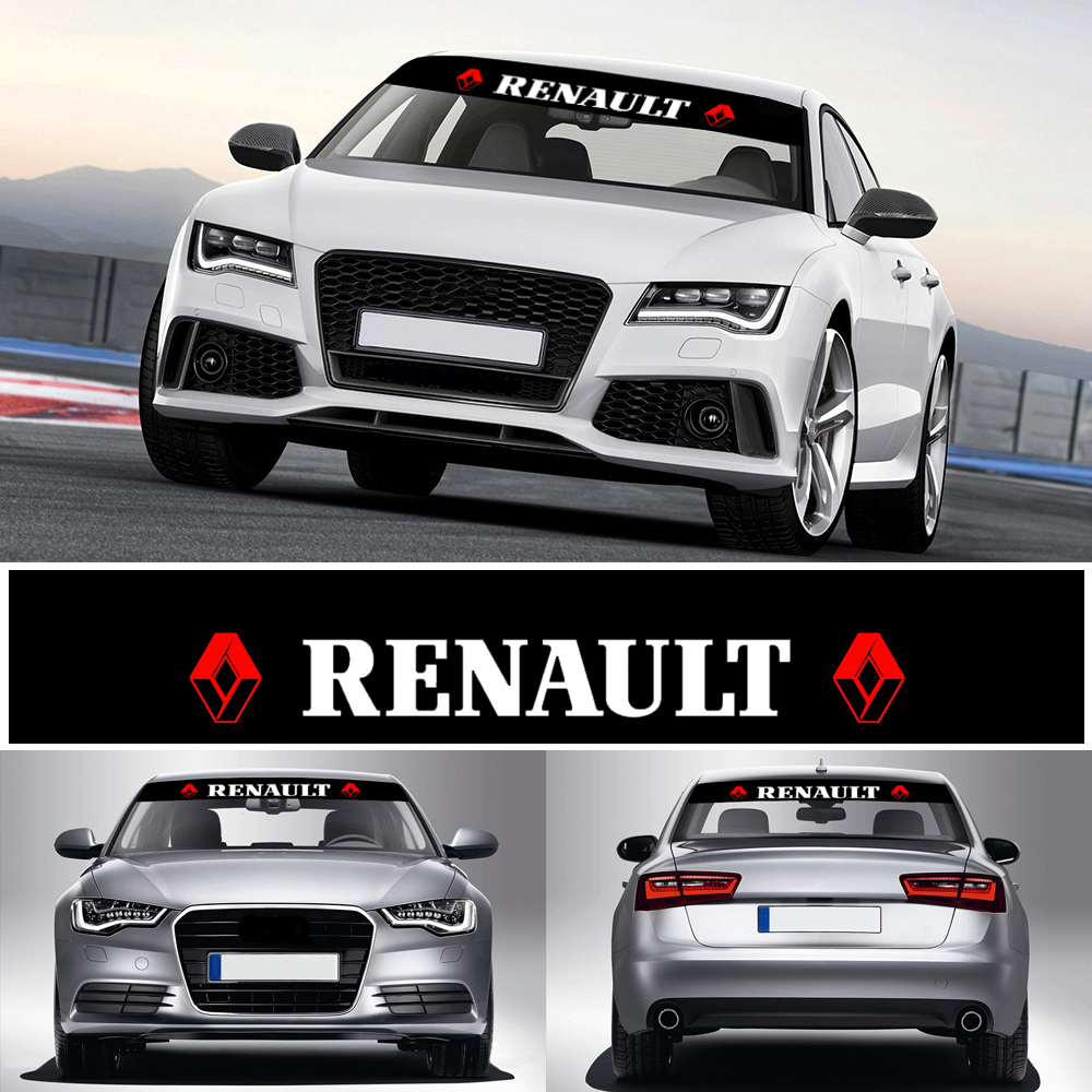 Car Styling Sunshade Front Windshield Banner Decal Reflective Stickers For Renault Megane Car Shaper 2 3 Captur Latitude Clio