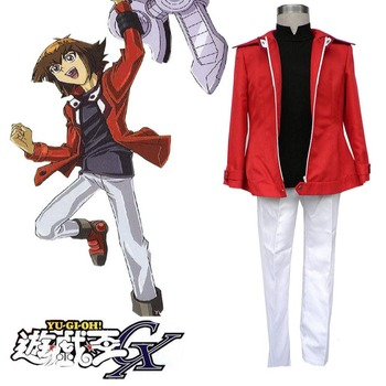 High-Q Unisex Japan Anime Cos Yu-gi-oh! GX Jaden Yuki Yuki Judai Cosplay Costumes Suit Sets фото