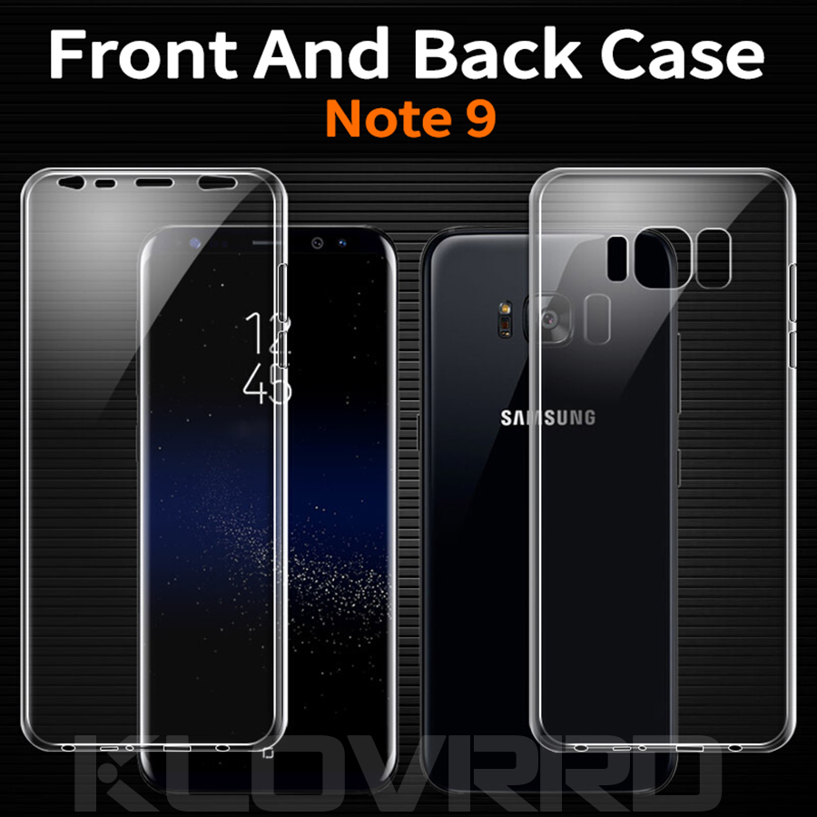 Phone case For Samsung Galaxy Note 9 360 Degree Full Cover Body Sides Soft  TPU Phone Case Two Crystal Front Back For Note9-in Fitted Cases from  Cellphones ... e0f3d66b2114