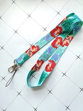 Cartoon anime prinses mickey minnie honden beren Donald Duck Neck Strap Lanyard Mobiele Telefoon Charmes Sleutelhanger ID Badge Sleutel kettingen(China)
