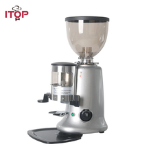 ITOP Black/Red/Sliver Electric Coffee Grinder Adjustable Dial Burrs Grinders Maker Machine For Snack,Coffee Shop 220V