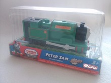 T0221 Electric Thomas and friend Peter sam Trackmaster engine Motorized train Chinldren child kids plastic toys gift