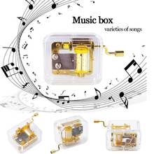 Clear Crystal Music Box Hand Cranked Musical Mechanism Chris