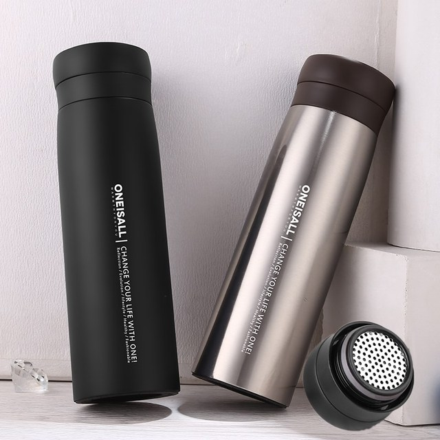 78848a0d71e ONE Men Gift Water bottle Thermo Mug With Filter(304 Stainless Steel) Thermos  Cup Insulated Vacuum Flasks Drink Bottle Thermal