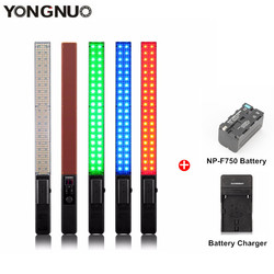 YONGNUO YN360 3200K-5500K Handheld LED Video Light Shooting RGB Colorful 39.5CM ICE Stick Professional Photo Lamp With Battery