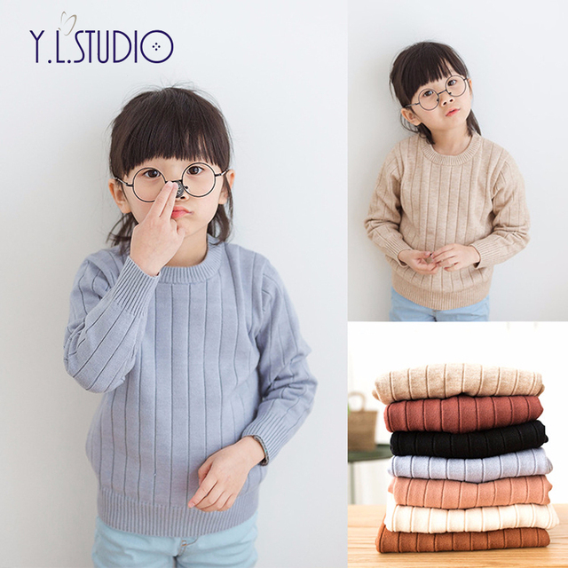 4b6aba24a3b1 Baby Children Clothing Boys Girls Sweater Pink Knitted Kids Ribbed ...