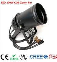 LED ZOOM 15 50 Degree 200W COB LED Par Light 3200K 7500K Warm White White/ Warm White White 2in1 Stage Disco Light DMX Par 64