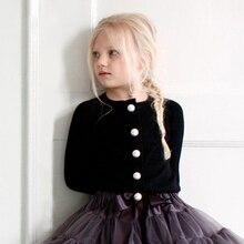 1-4T Baby Girl Cardigans Children Spring Coat Kids Girls Sweater Beading Cardigan Outerwear Jacket For Girl Coat Girls Clothing