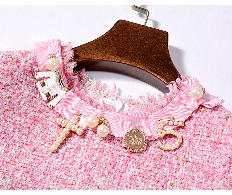 NIWIY ապրանքանիշի զգեստ Sweet Diamonds Bead Pink - Կանացի հագուստ - Լուսանկար 4