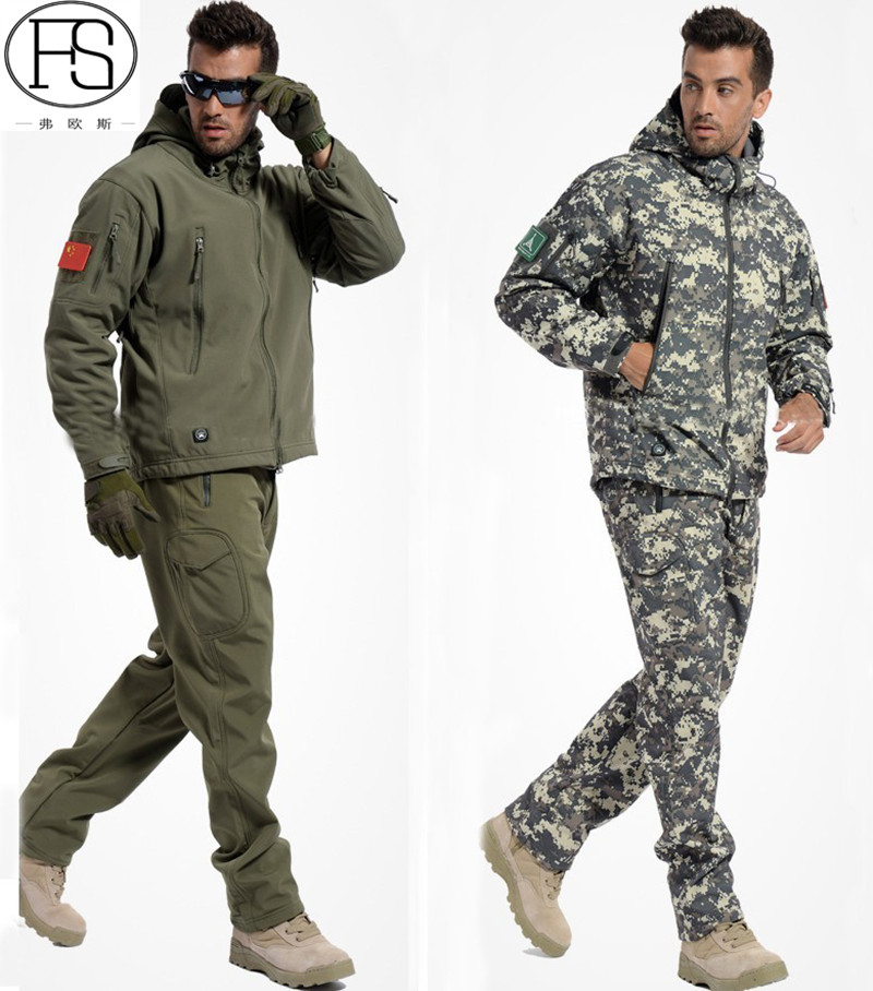 Tactical TAD Jacket And Pants Army Military Softshell Suits Men Hunting Clothing Outdoor Windbreaker Waterproof Men Hooded Suits