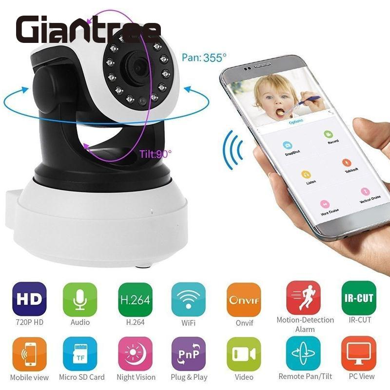 цены giantree HD IP Camera 720P Wireless Camera Wifi Security Camera Night Vision Webcam CCTV Monitoring Night Video Baby Monitor