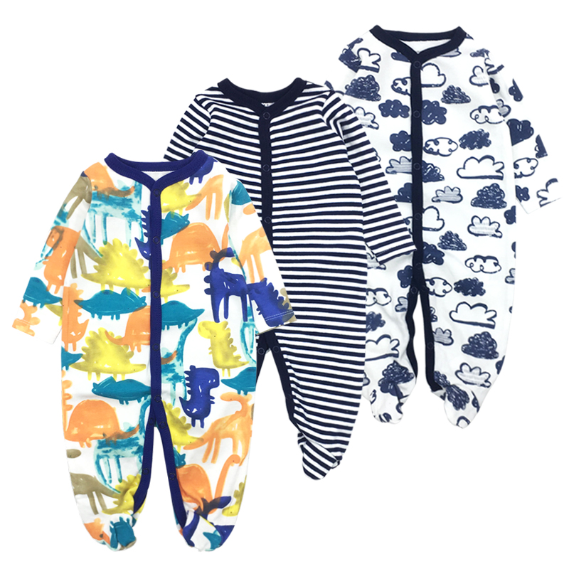 Baby romper Newborn clothes 100% Cotton Long Sleeves Baby Pajamas Cartoon Printed Baby Girls Boys 3pieces/lot Clothes mother nest baby romper 100% cotton long sleeves baby gilrs pajamas cartoon printed newborn baby boys clothes infant jumpsuit