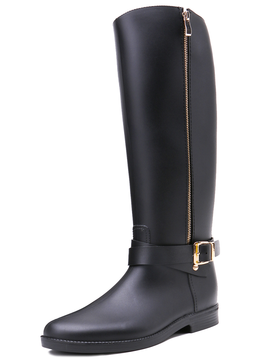 TONGPU Ladies Tall Rain Boots Fashion Style Hot Sale Comfortable Non Slip Outsole Women Riding Boots