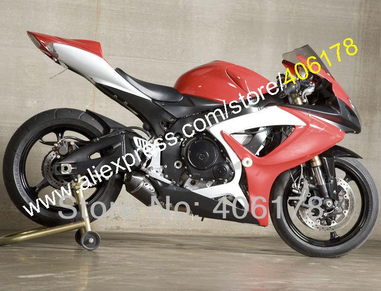 Hot Sales,For SUZUKI GSXR 600 750 K6 2006 2007 GSXR750 GSXR600 GSX-R600 GSX-R750 Red white black Fairing (Injection molding) fairings set for 2006 2007 suzuki gsxr600 gsxr750 06 07 purple black fairing kit gsxr600 gsxr750 k6 vf71