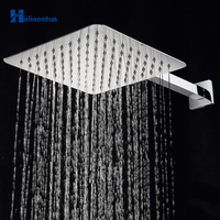 10 inch 25cm*25cm Square Rain Shower Head With Shower Arm.Wall Mounted Bathroom Head Shower & Square Arm Shower