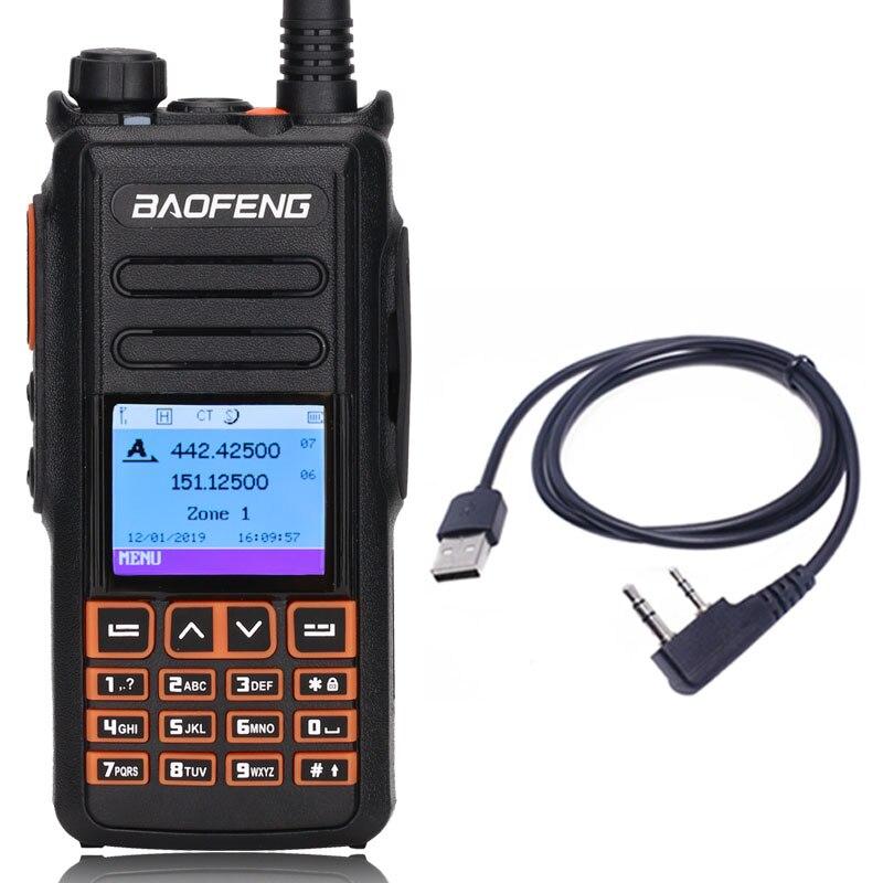 Walkie-Talkie Baofeng dm-X Usb-Cable Two-Way-Radio Digital Ii Ham 1 GPS 2-Tier Slot Dual-Time