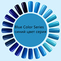 BLUE Color series  Magic Blue Color Top Base Coat Needed  Drying Gel Nail Polish LacquerSoak-off Gel Nail LED UVUV LED Lamp