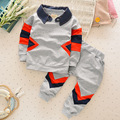 2016 New Fashion Beautiful Baby Girls Baby Boys Striped Shirt +Trousers Children 4 Color Free Shipping