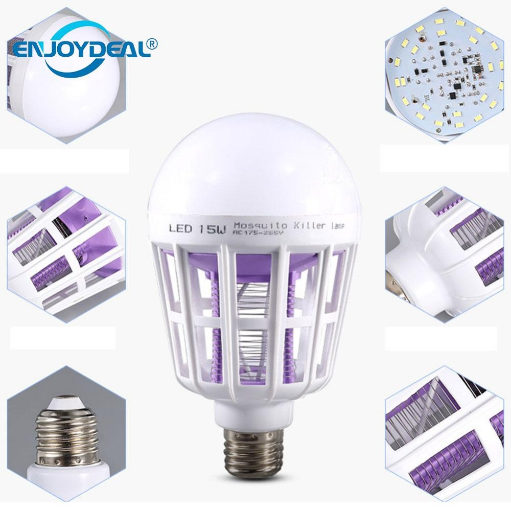 E27 15W 24LED 2In1 Mosquito Insect Fly Killer Lamp Nightlight Globe Bulb mosquito killer bulb lamp
