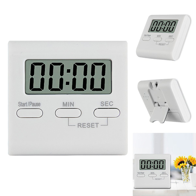 Magnetic LCD Digital Kitchen Timer Practical Cooking Timer Alarm Clock  Kitchen Count Up Down Timer Reminder