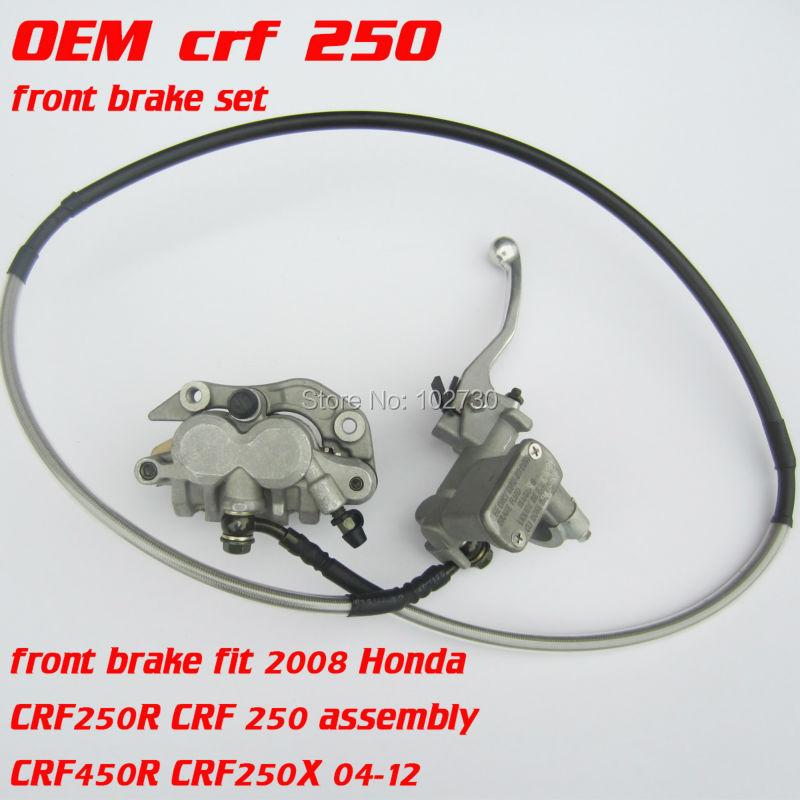 Moto De Frein Avant set fit CR125 CR250 CRF250 CRF450 X R 04-12 Xmotos xz250 Kayo T4/T6 Motos Motocross