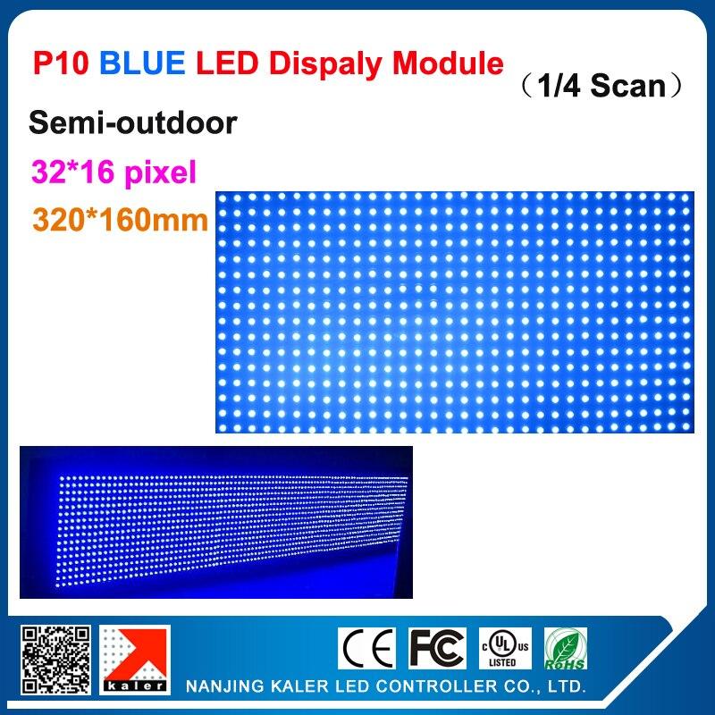 Teeho 1 лот 4 шт. перемещение СВЕТОДИОДНЫЙ дисплей панели полу-открытый сообщение прокрутки действия P10 синий светодиод модуля 320*160 мм 32*16 пиксе...