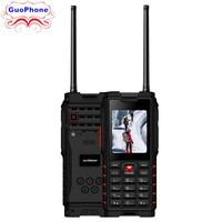 Ioutdoor T2 Walkie Talkie Phone 2.4 MP3 MP4 1.3MP Back Camera FM 4500mAh Power Bank Flashlight IP68 Waterproof Rugged CellPhone