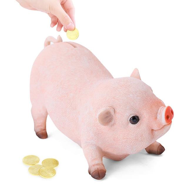 piggy bank pig coins money box home ornaments tirelire hucha coin saving safe home decoration acessories