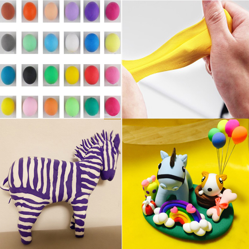 Multi Color DIY Rubber Mud Strong plasticine Putty Clay EDC Hand For Autism  ADHD Anxiety Stress Relief Focus Toy Gift 36 Styles new e zinc alloy cube hand spinner toys edc fidget cube spinner for autism and adhd anxiety stress kids adults gifts toupie anti