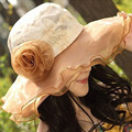 Большой пляж летние шляпы женщин шапки оптом для женщин женская Мода лето шляпа от солнца женщин большой цветок