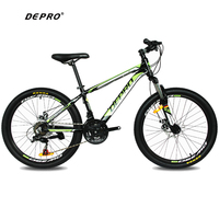 DEPRO 21 Speed 24 Inch 9 13 Y Students Mountain Bikes Brake Gear MTB Professional Double Disc Brake Cycling Bicycle