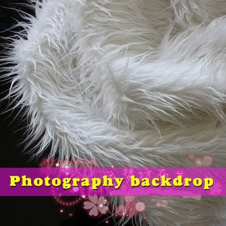 לבן מונגולית מתולתל כבשים פו פרווה בד - אומנויות, מלאכת יד ותפירה