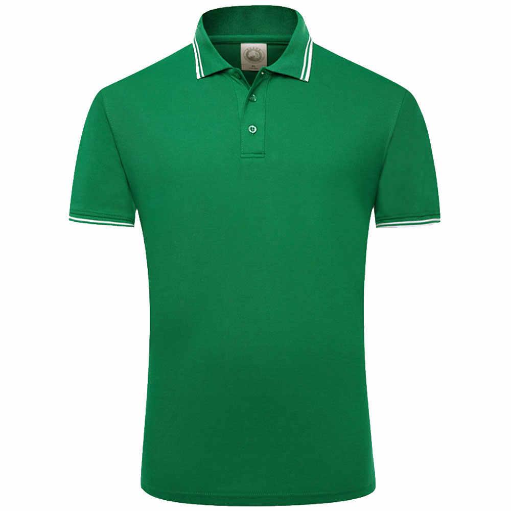 2c1ddc46a425f ... 2019 Летний стиль хлопок мужские рубашки поло одноцветное цвет короткий  рукав тонкий дышащий известный бренд для ...